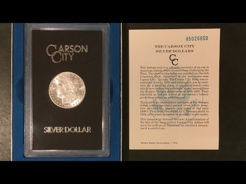 What Is A GSA Carson City Morgan Silver Dollar?