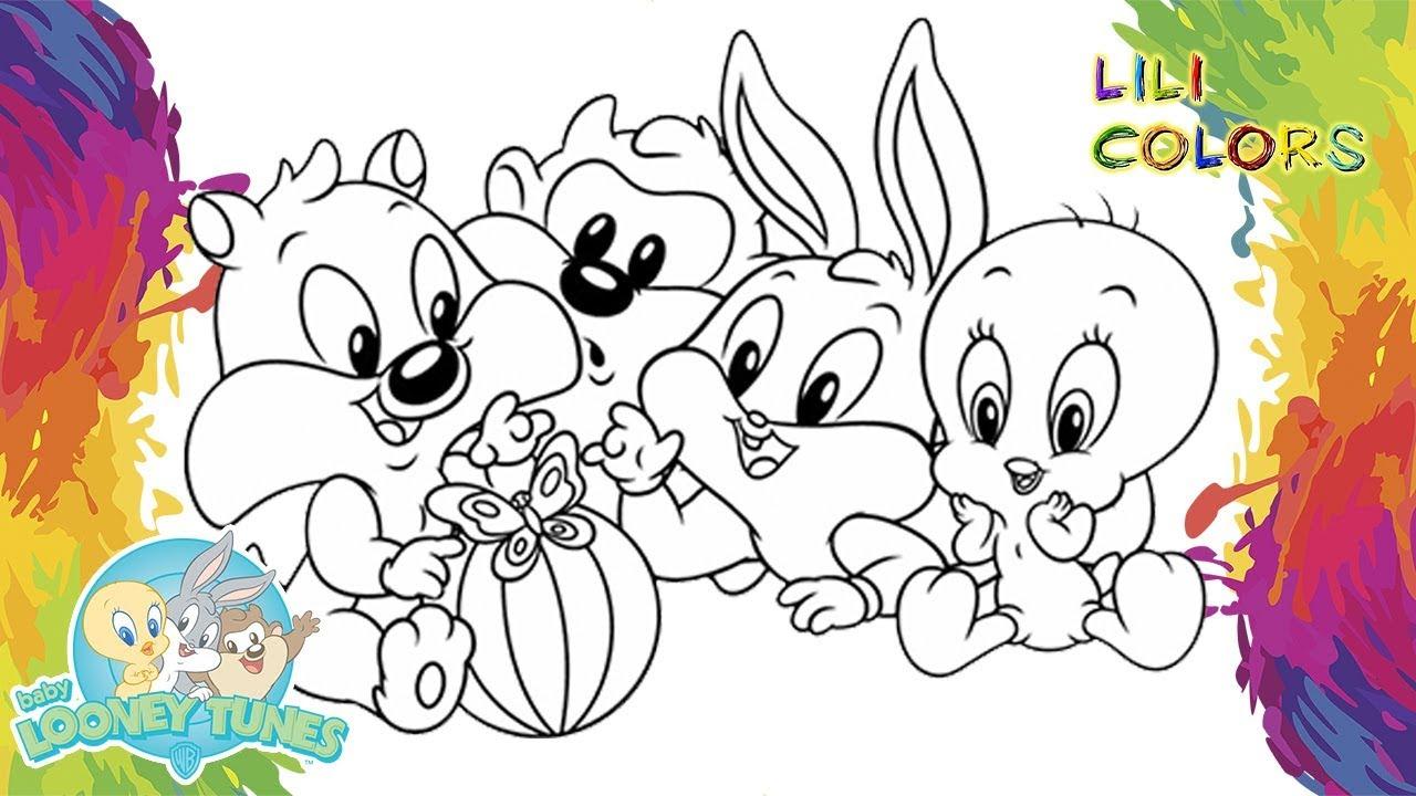 Pintar Baby Looney Tunes Colorindo Desenho Para Crianca Em
