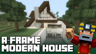 Minecraft Xbox One: A-Frame Modern House Tour!