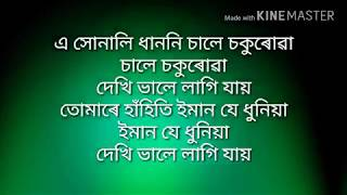 Assamese new song karaoke senimai with lyrics