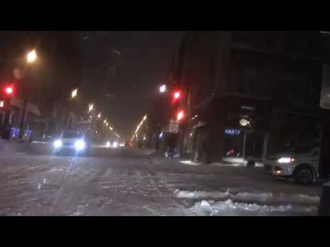 Driving in a Canadian Blizzard, March 29, 2015