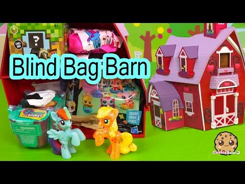 Blind Bag Toy Surprise Barn With My Little Pony Apple Jack + MLP Rainbow Dash - Cookieswirlc Video
