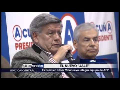 Lima: Expremier César Villanueva integra equipo de APP
