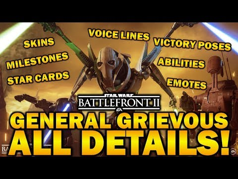 GENERAL GRIEVOUS ALL DETAILS! Star Wars Battlefront 2 thumbnail