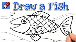 How to draw a Fish Real Easy -  Step by Step