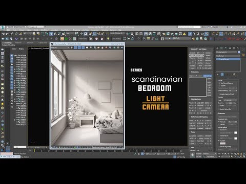 Scandinavian Bed (series) L Interior Light With Vray HDRI & Physical Camera  L Urdu/Hindi