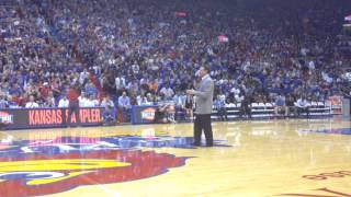 Bill Self addresses crowd at Late Night: