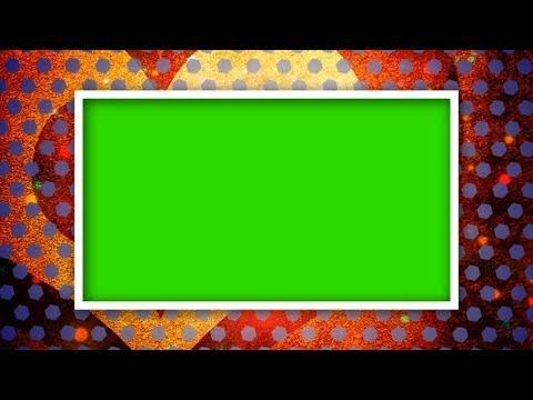 RECTANGLE SHAPE WITH HEART BACKDROP GREEN SCREEN ...  RECTANGLE SHAPE...