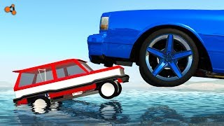 Beamng drive - Real Cars vs Toy Сars crashes #5
