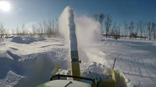 3-9-19 JOHN DEERE 1025R SNOW BLOWING