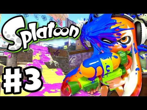 Splatoon - Gameplay Walkthrough Part 3 - Tentatek Splattershot! (Nintendo Wii U)