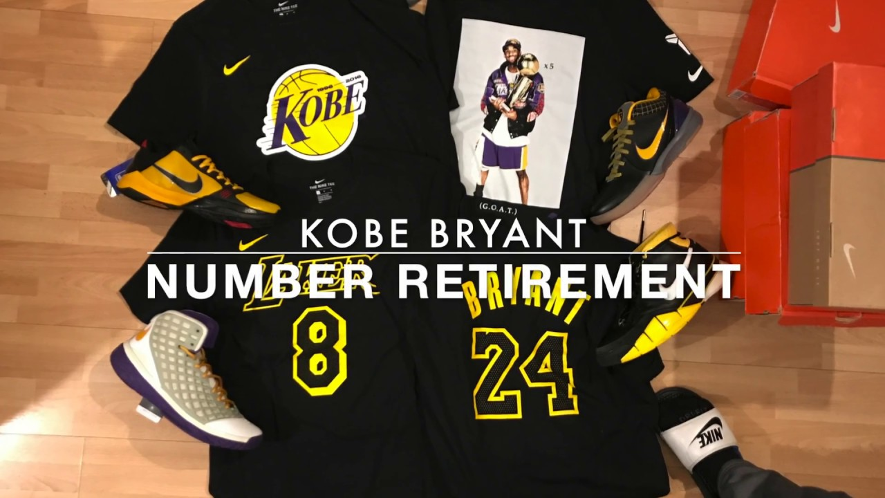 b40ae7a77c7b Kobe Bryant Jersey Retirement Nike Shirts - YouTube