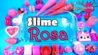 Mezclando todo Rosa en Slime (Agregando cosas Random) / Supermanualidades