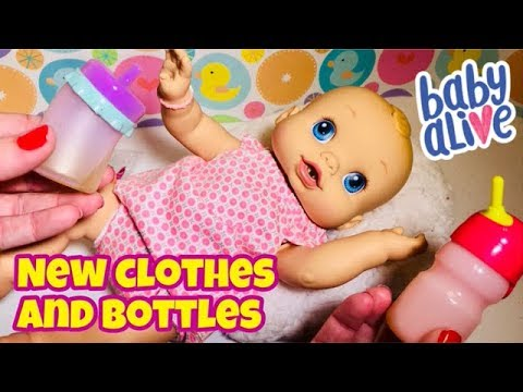 Baby Alive Wets N Wiggles Trying New Bottles And Clothes