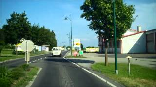 The border of Austria and Hungary at Heiligenkreuz : Sicily to Ukraine by camper van part 62