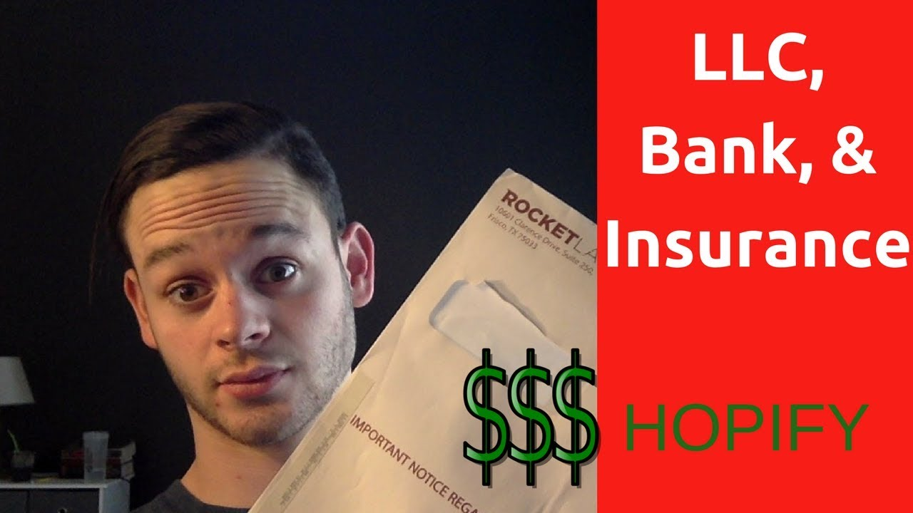 Shopify LLC formation, Bank Account, and Insurance