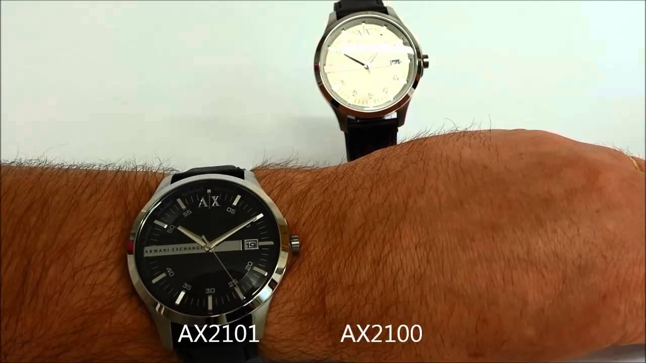 b07bcaf4e84 Armani Exchange Hampton Leather watch review - YouTube