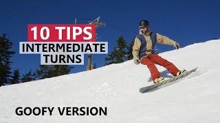 10 Tips to Improve Intermediate Snowboard Turns - Goofy Version