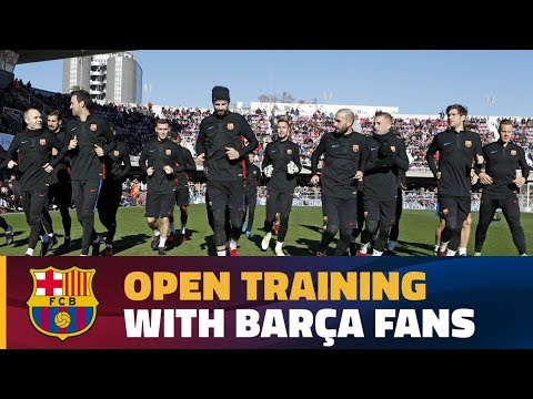 Open training delights crowd at Miniestadi