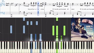 Video Zayn ft. Sia - Dusk Till Dawn (Synthesia Piano Tutorial w/Lyrics) download MP3, 3GP, MP4, WEBM, AVI, FLV Juli 2018