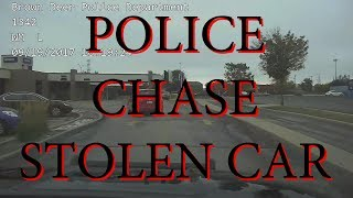 Police Chase Stolen Car in Wisconsin
