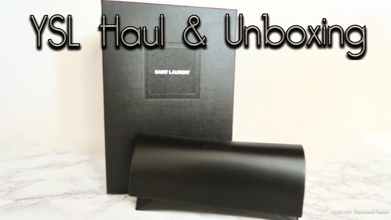 7bb02e2bbc YSL Heart Sunglasses and Toy Lou Lou Bag Unboxing - YouTube