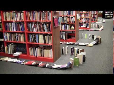Bookmans Does Book Dominoes