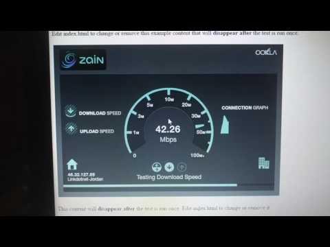 4G Zain Internet Speed test Jordan Amman