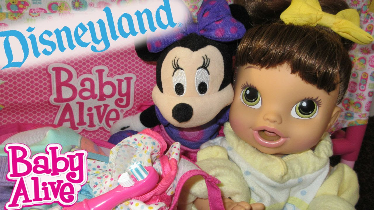 baby alive disneyland surprise packing diaper bag youtube. Black Bedroom Furniture Sets. Home Design Ideas