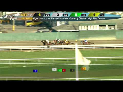 video thumbnail for MONMOUTH PARK 10-17-20 RACE 10