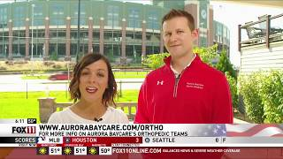 Finger Injuries | Fox 11 Fieldhouse | Aurora BayCare Orthopedics