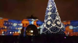Лазерное шоу, дворцовая площадь