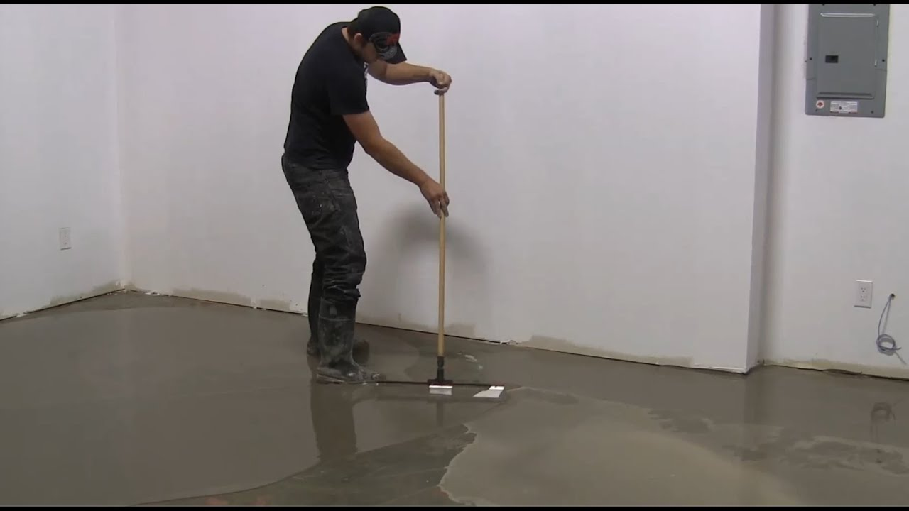 How To Use Selfleveling On Large Floor Areas YouTube - Cost of self leveling concrete floor