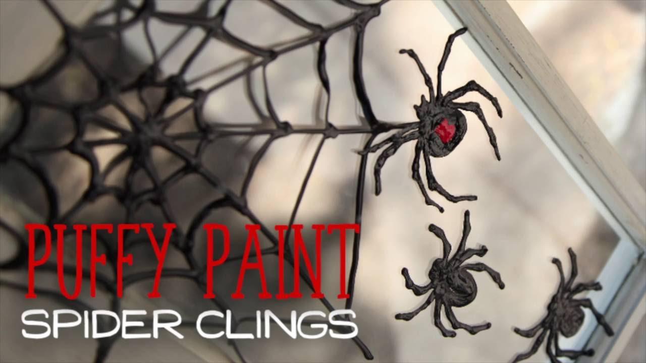diy halloween window clings - youtube