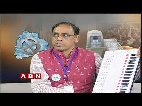 VVPAT Voting Machine Demo For Telangana Elections 2018 | ABN Telugu