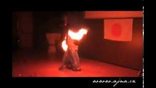 Ajna - Fire show / Fire fans at New Years Eve party
