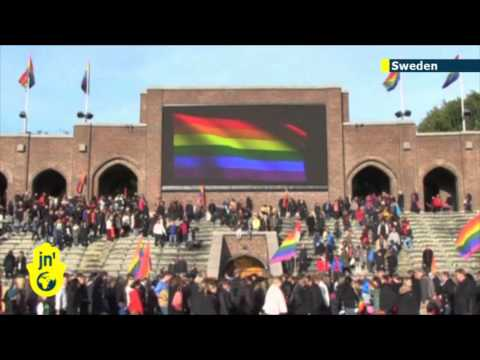 Rainbow Rendition of Russian Anthem: Swedes sing Sochi Olympics protest song for gay rights