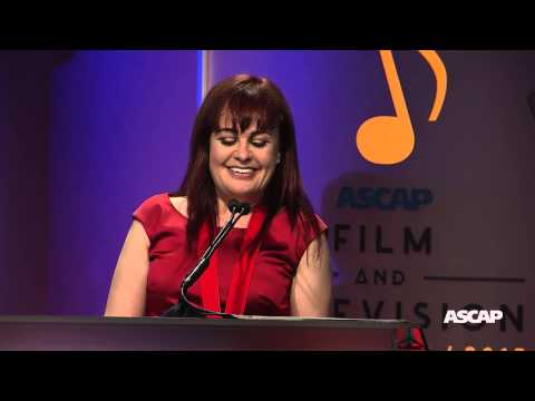 Deborah Lurie accepts the ASCAP Shirley Walker Award