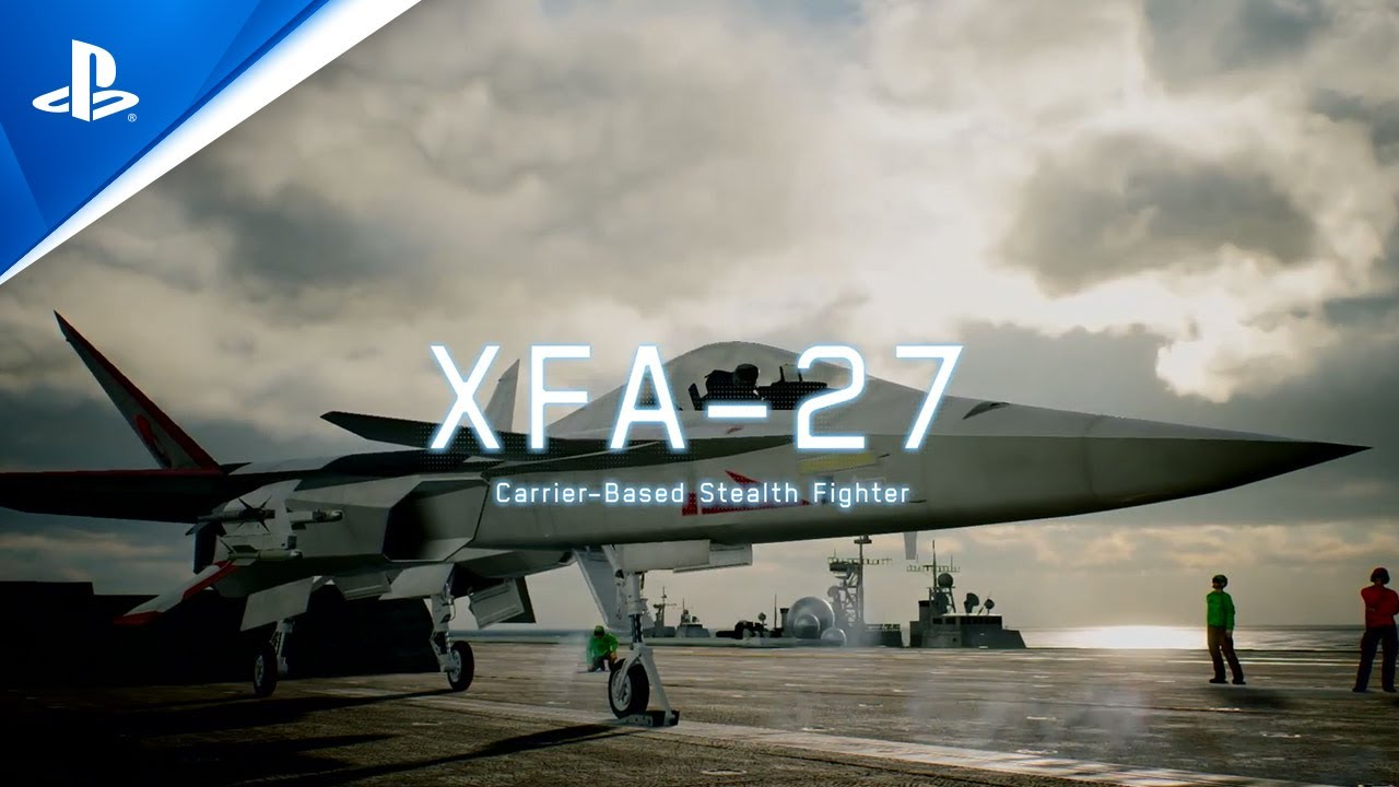 Ace Combat 7: Skies Unknown - CFA-44 Nosferatu, XFA-27, ASF-X Shinden II Aircraft Trailer | PS4, PS VR