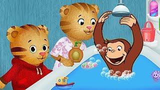 Jorge el Curiosos y Daniel el Tigre, Videojuego hora del baño, Daniel tiger's, capitulo completo thumbnail