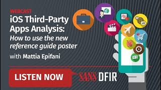 iOS Third Party Apps Analysis how to use the new reference guide poster