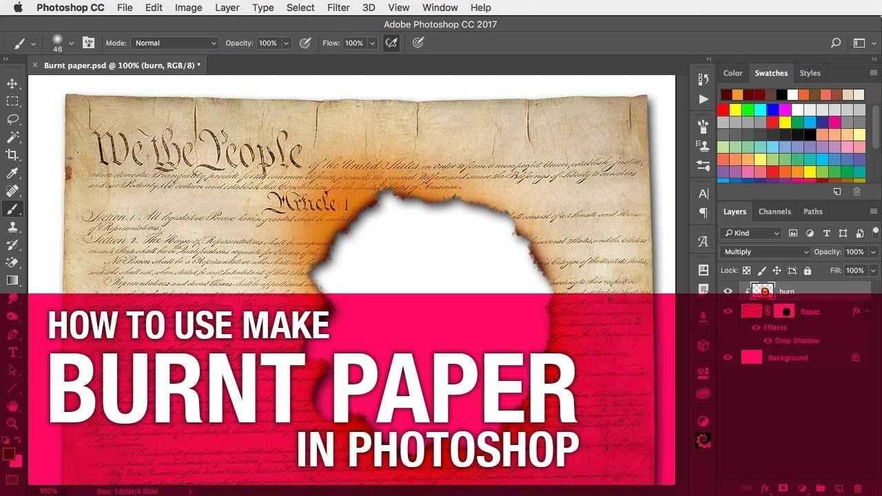 How to Create a Burnt Paper Effect in Photoshop