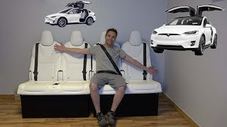 Totaled Tesla Model X Turned Into Furniture. A Couch!