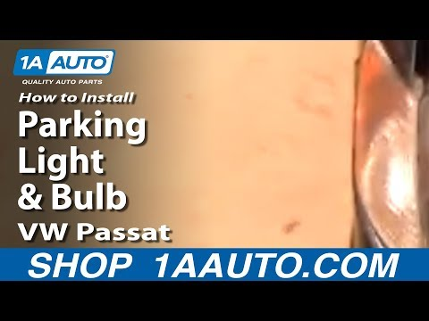 How To Replace Parking Light and Bulb 98-07 VW Passat