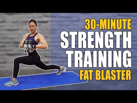 30-Min Strength Training Fat Blaster (Burn 300Cals!) | Joanna Soh