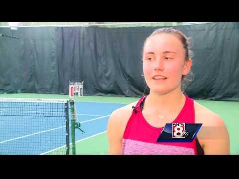 Tennis sensation using virtual school to aid in training