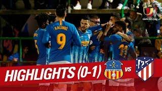 Resumen de UE Sant Andreu vs Atlético de Madrid (0-1)