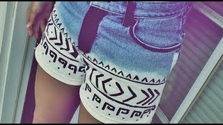 DIY: How to Tribal Print Shorts