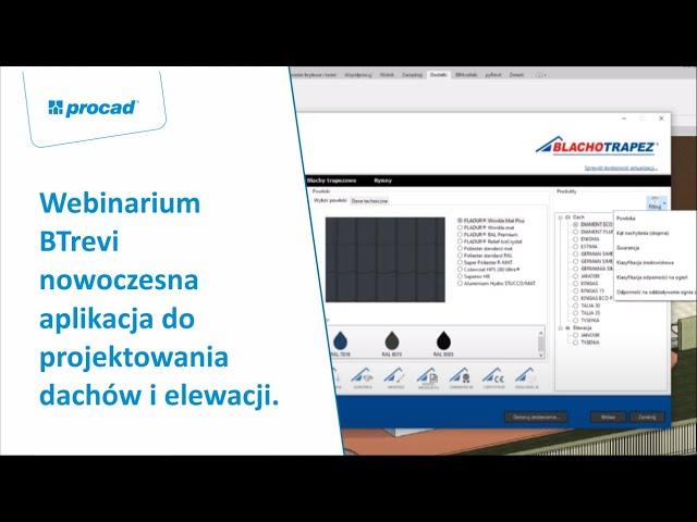 Webinar:  BTrevi - nowoczesna aplikacja do projektowania dachów i elewacji.