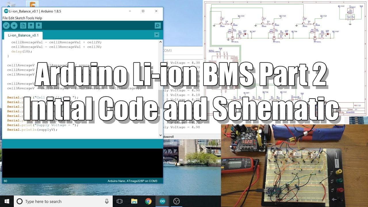 Arduino BMS #2: Initial Schematic and Code